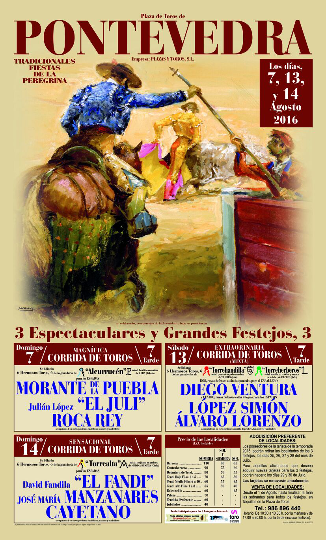Carteles oficiales feria de la Peregrina 2016